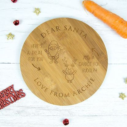 Picture of Wooden Santa Plate