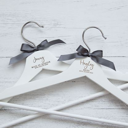 Picture of Elegant Script Wedding Hanger