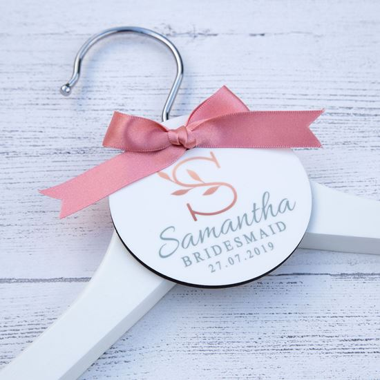 Picture of Floral Initial Wedding Hanger