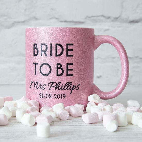 Picture of Bride to Be Glitter Mug